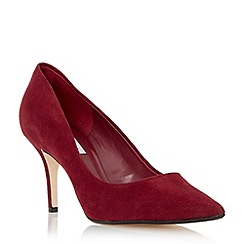 Dune - Maroon 'Alina' pointed toe mid heel court shoe
