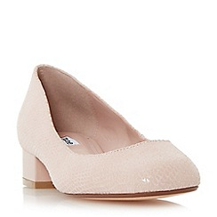 Dune - Light pink 'Alanah' square toe block heel court shoe