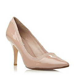 Dune - Neutral mixed material pointed toe court shoe