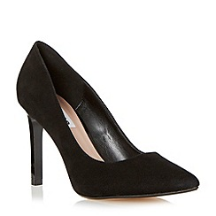 Dune - Black pointed toe high heel court shoe