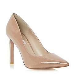 Dune - Neutral pointed toe high heel court shoe