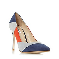 Dune - Multicoloured 'Azzra' patchwork high heel court shoe