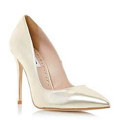 Dune - Metallic pointed toe high heel court shoe
