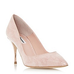 Dune - Neutral reptile print pin heel court shoe