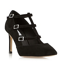 Dune - Black 'Ashlea' strappy buckle detail court shoe