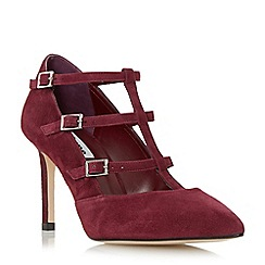 Dune - Maroon 'Ashlea' strappy t-bar mary jane shoe
