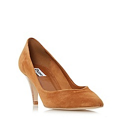 Dune - Tan 'Adelaide' pointed toe mid heel court shoe