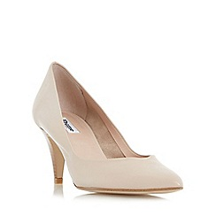 Dune - Natural 'Adelaide' pointed toe mid heel court shoe