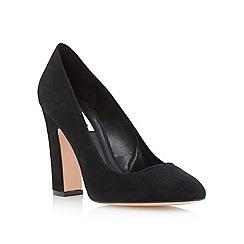 Dune - Black almond toe block heel court shoe