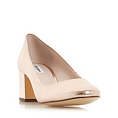 Dune - Rose 'Annalena' block heel round toe court shoe