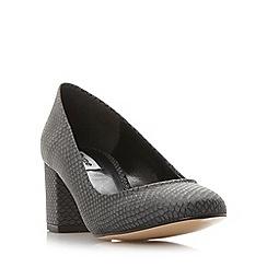 Dune - Black 'Annalena' block heel round toe court shoe