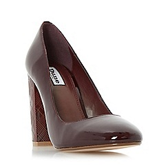 Dune - Maroon 'Anniston' etched heel court shoe