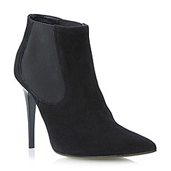 Dune - Black suede pointed toe stiletto chelsea boot