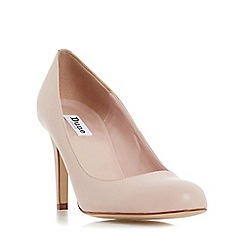Dune - Natural 'Aggi' round toe court shoe