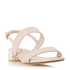 Dune - Light pink 'Ninah' jewelled block heel sandal