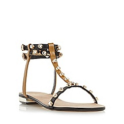 Dune - Multicoloured 'Nessey' jewelled stud flat sandal