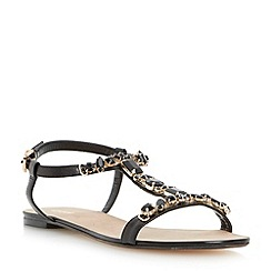Dune - Black jewel embellished t-bar sandal