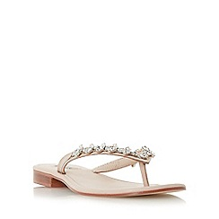 Dune - Light pink 'Niki' jewelled toe post sandal