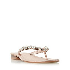 Dune - Rose 'Niki' jewelled toe post sandal