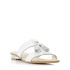 Dune - Silver 'Newberry' tassel detail jewel heel sandal