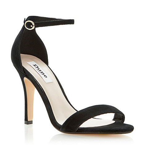 Dune - Black two part ankle strap sandal