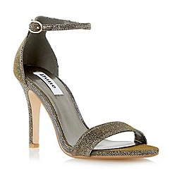 Dune - Gold two part ankle strap sandal