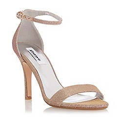 Dune - Pink two part ankle strap sandal