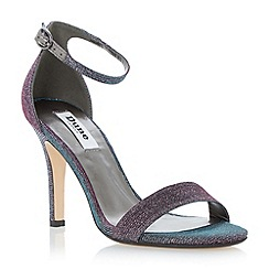 Dune - Purple two part ankle strap sandal