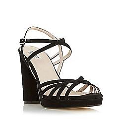 Dune - Black 'Magdalane' block heel strappy sandal
