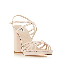Dune - Light pink 'Magdalane' block heel strappy sandal