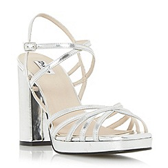 Dune - Silver 'Magdalane' block heel strappy sandal