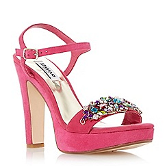 Dune - Raspberry-suede 'Meghan' suede two part jewel trim platform sandal