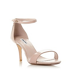 Dune - Light pink 'Mariee' two part mid heel sandal