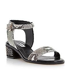 Dune - Neutral pin studded block heel sandal