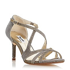 Dune - Metallic strappy metal tip mid heel sandal