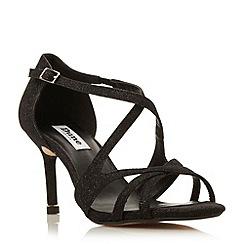 Dune - Black 'Marilyn' strappy metal tip mid heel sandal