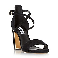 Dune - Black metal trim block heel sandal