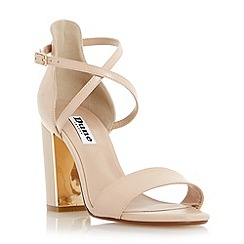 Dune - Neutral metal trim block heel sandal