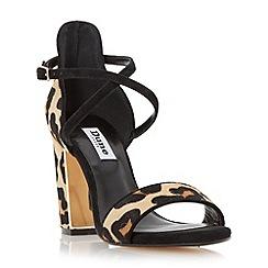 Dune - Leopard metal trim block heel sandal