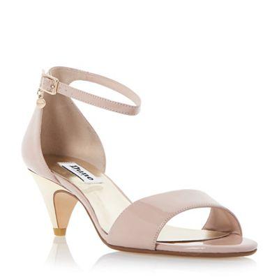 Dune Light pink Marina metallic kitten heel sandal - . -