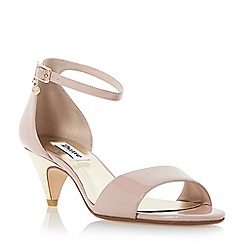 Dune - Light pink 'Marina' metallic kitten heel sandal