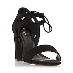 Dune - Black 'W moroco' wide fit ghillie lace two part block heel sandal