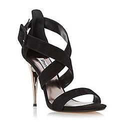 Dune - Black-suede 'Melisa' crossover strap stiletto sandal