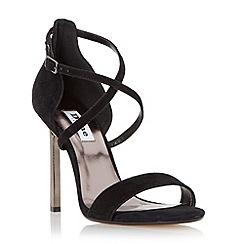 Dune - Black 'Mojito' metal heel strappy sandal