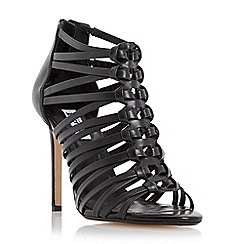 Dune - Black 'Meeli' leather strappy high heel sandal