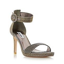 Dune - Gold 'Miami' two part high heel sandal