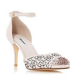 Dune - Pink 'Mylene' laser cut peep toe sandal