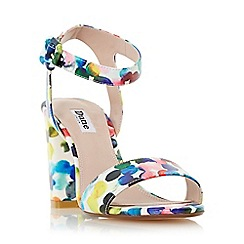 Dune - Multicoloured 'Melrose' multi coloured bubble print two part sandal