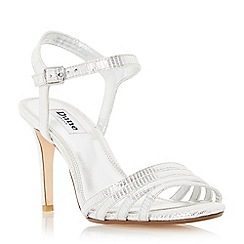 Dune - Silver 'Maci' strappy two part mid heel sandal
