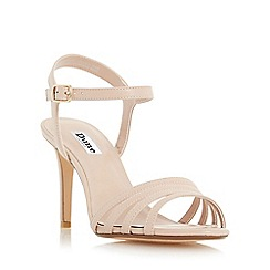 Dune - Natural 'Maci' strappy two part mid heel sandal